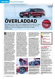 Provkörd: Volvo V60 T8.