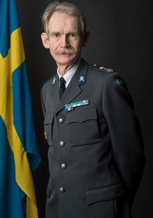 Major Otto Gröntoft, projektledare för uttagning av fordon på Försvarsmakten.