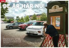 Bilkamp med spänning: Hyundai Kona Electric, Kia e-Soul och Nissan Leaf e+.
