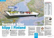 Reportage: Svenska bilar utvandrar till Finland.