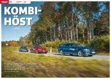 Test: Nya BMW 3-serie möter uppdaterade VW Passat och Volvo V60.