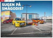 Trebilstest: Mazda 2 mot Peugeot 208 och Renault Clio.