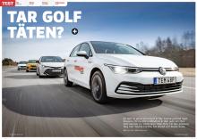 Test: VW Golf mot Toyota Corolla, Kia XCeed och Skoda Scala.