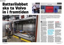 Besök i Volvos batterilabb.