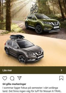 Så här såg Nissans annons ut på Instagram.