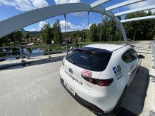Mazda 3 fick uppmärksamhet för sin bakdel och poserade i Järvsö.