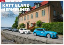 Test: VW Golf, BMW 1-serie, Mercedes A-klass, Audi A3.