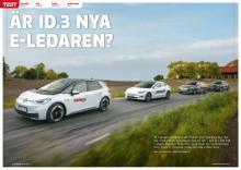 VW ID.3 mot 3 konkurrenter i tuff elbilskamp.