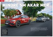 Biltest: Mercedes GLA mot Audi Q3 Sportback och Range Rover Evoque.