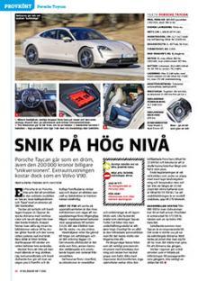 Provkörd: Porsche Taycan.
