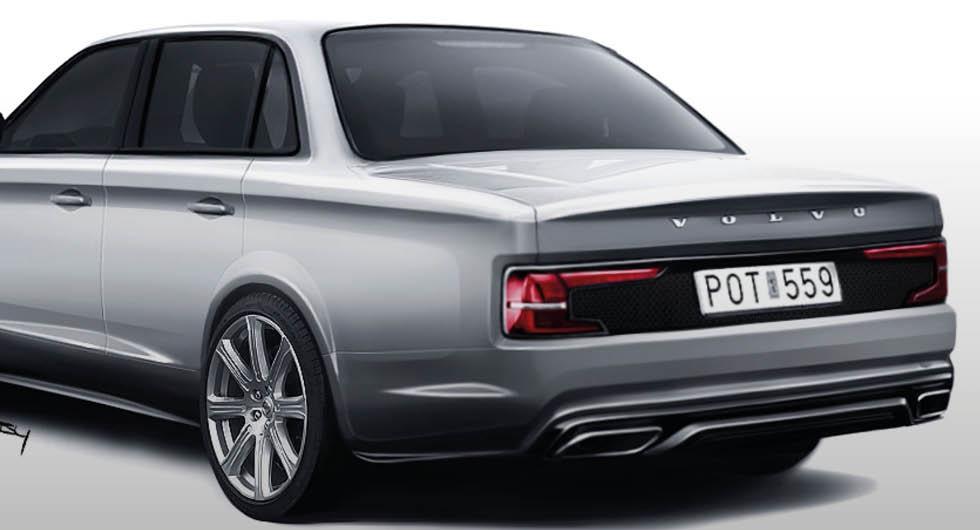 Se skissen: Så kan en modern Volvo 240 se ut