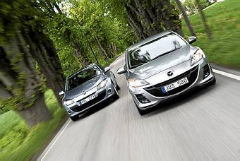 Bildspel: Mazda3 vs Renault Mégane - formtoppade snåljåpar