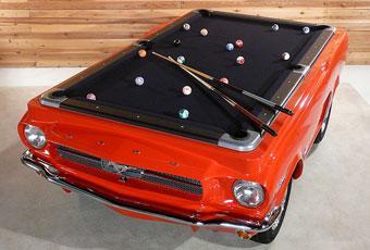 Bildspel: Spela biljard på en Mustang