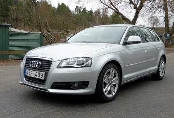 Audi A3 har en välkänd form även om fronten moderniserats i flera omgångar.