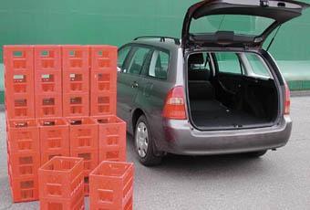 Toyota Corolla är en liten lastsuverän i den här klassen. Enkel att lasta, slätt golv och bra rymd - 40 backar.