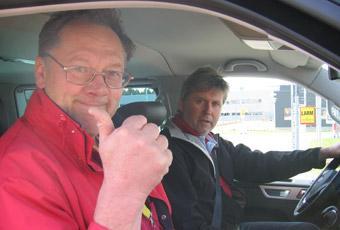 Erik Rönnblom och Lennart Saxberg är redo.
