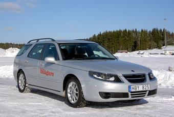 Bildspel: Saab 9-5 BioPower - begtest