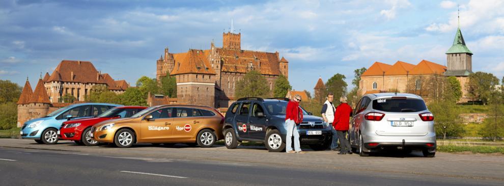 I polska Malbork ligger Europas största medeltida borg. Den började byggas på 1200-talet och är nu ett av Unescos världsarv.