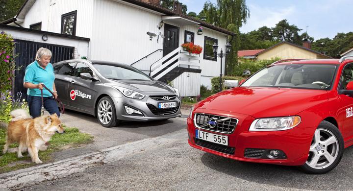 Biltest: Hyundai i40, Volvo V70