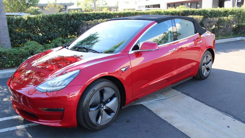 Tesla Model 3 blir cabriolet - för 300 000 kronor extra ...