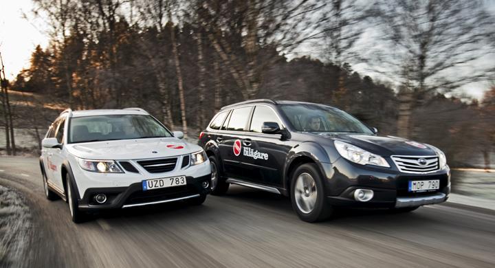 Biltest: Saab 9-3X, Subaru Outback