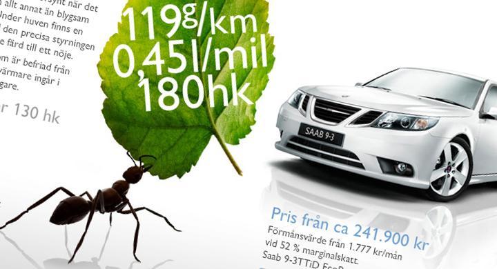 Saab kritiseras för vilseledande reklam