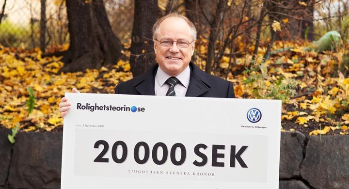Körde lagligt – vann 20 000 kronor