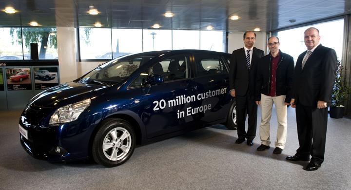 20 miljoner Toyota sålda i Europa