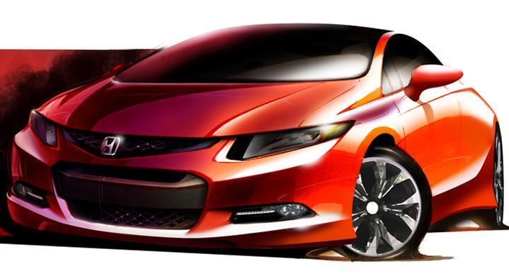Nya Honda Civic – första skissen