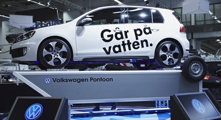 Volkswagen visar bilsläp för båtar