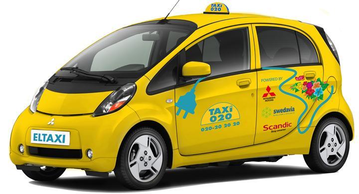 Första elektriska taxin till Sverige