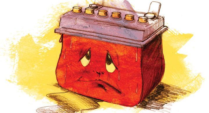 Bilfrågan: Skadas bilbatteriet av cementgolv?