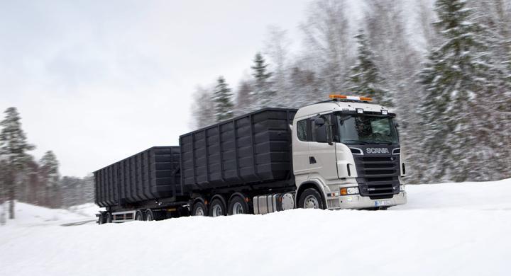 Krav på vinterdäck för tunga fordon