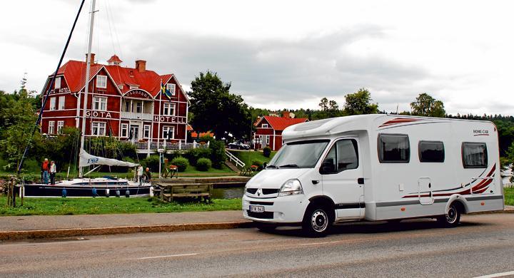 Med husbil längs Göta kanal