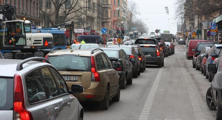 Svenskar mest frustrerade av bilköer