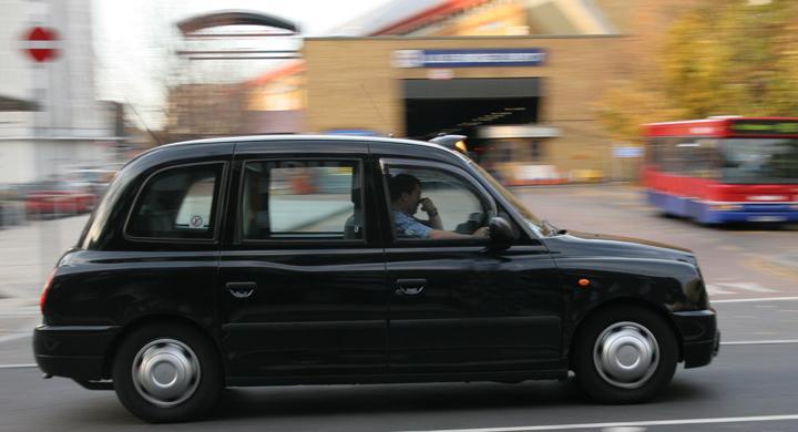 Klassisk taxibil en riktig miljöbov