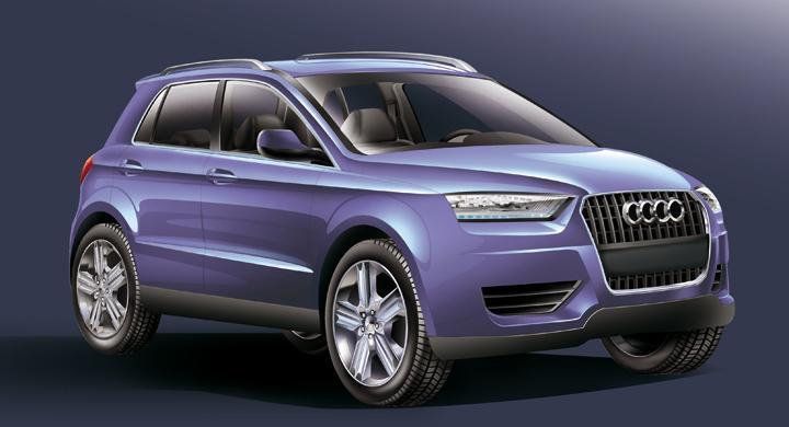 Audi Q1 – här är första skissen
