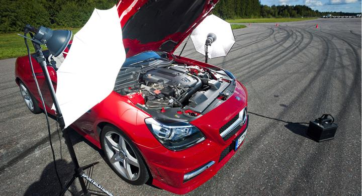 Automobil lär dig fotografera bilar