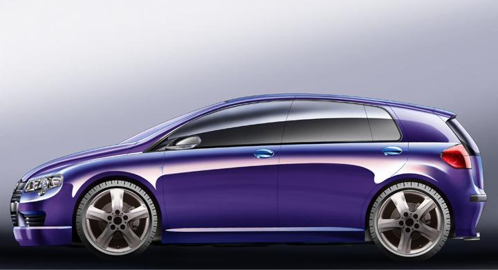 Nästa VW Golf - första skissen