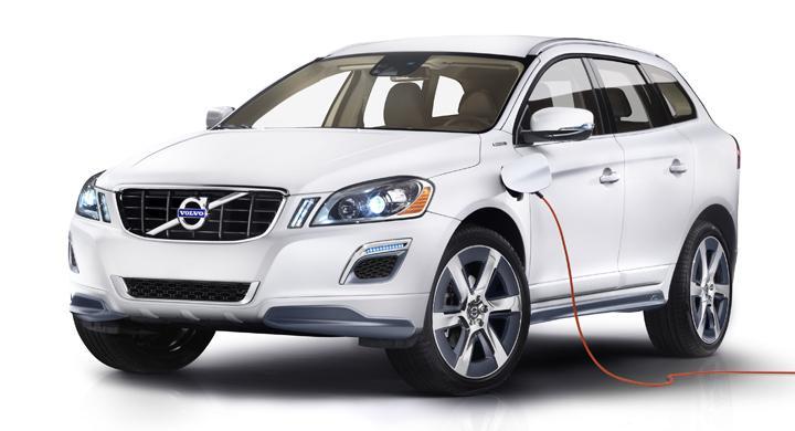 Volvo XC60 Plug-in Hybrid Concept: Hybrid som kör 45 kilometer på el