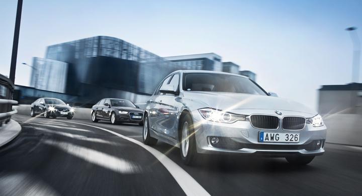 Ljustest: BMW 3-serie, Audi A4, Volvo S60 (2012)