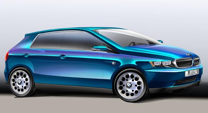 Nya BMW i5 – här är första skissen