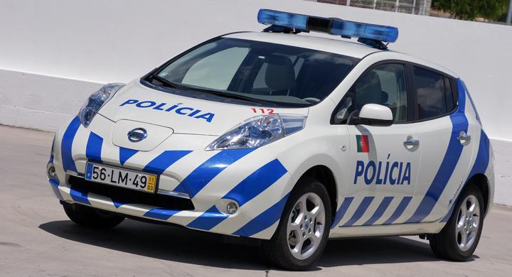 Nissan Leaf blir polisbil i Portugal