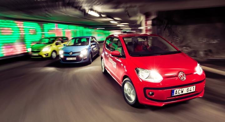 Ljustest: Chevrolet Spark, Renault Twingo, Volkswagen Up (2012)