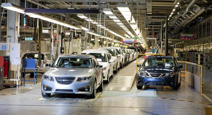 Reservdelar tillverkas i Saabfabriken