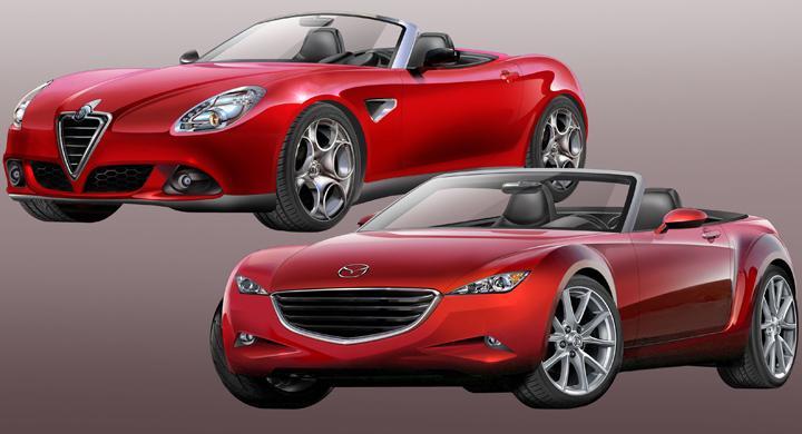 Ny sportbil från Mazda och Alfa Romeo – första illustrationen