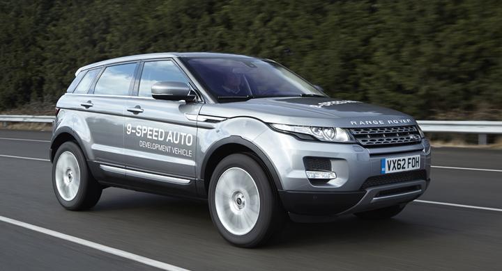 Range Rover Evoque – först med niostegad automatlåda