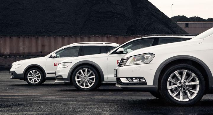 Biltest: Audi A6 Allroad, Skoda Superb Alldrive, Volkswagen Passat Alltrack (2012)