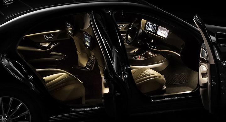 Första bilderna på nya Mercedes S-klass
