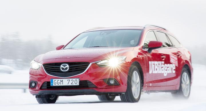 Vintertest: Mazda6 sparar på bromskraften